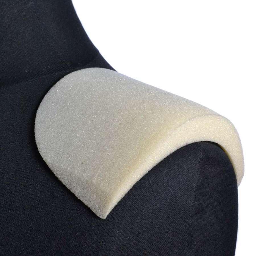 Плечевые накладки поролон 20х125х180 скругленные белые