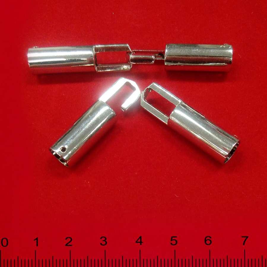 Пряжка металл разъемная пришивная 70х30мм хром