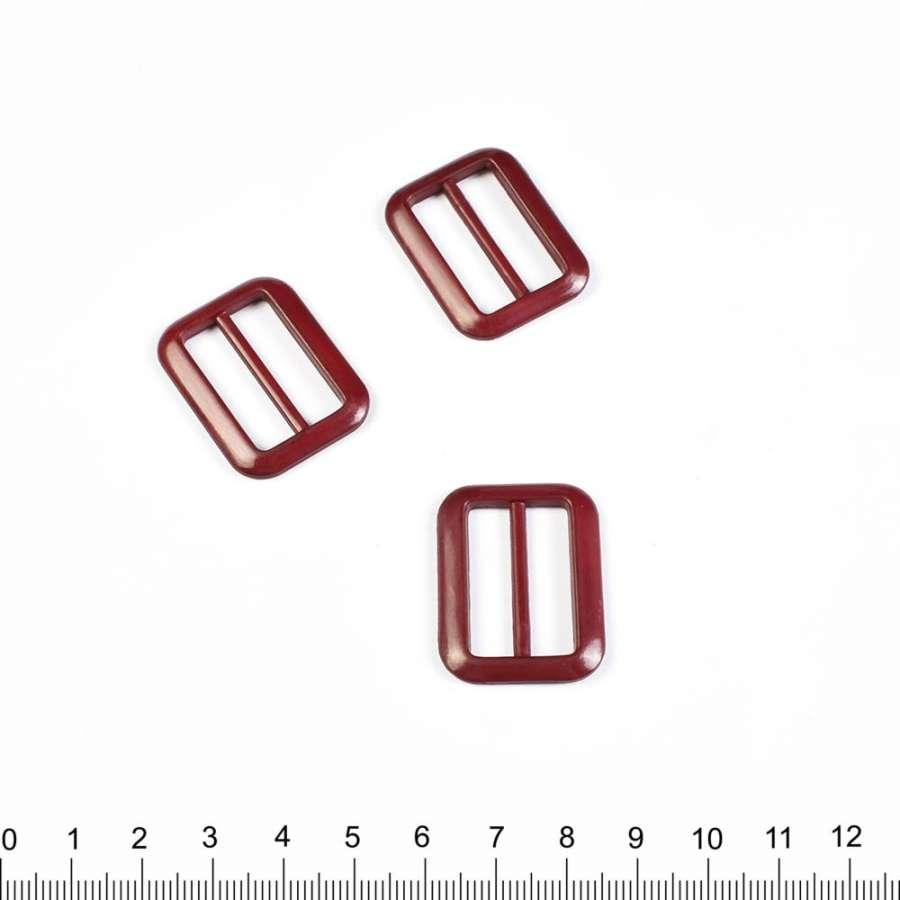 Пряжка 25мм пластик 34х24мм бордо