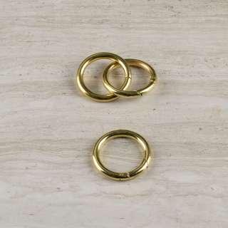 Кольцо-карабин металл 34мм золото