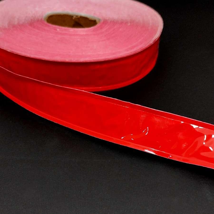 Тесьма светоотражающая 25мм красная