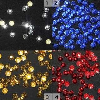 Термостразы металл круглые граненые 4 цвета