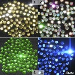 Термостразы акрил круглые граненые 4мм 4 цвета