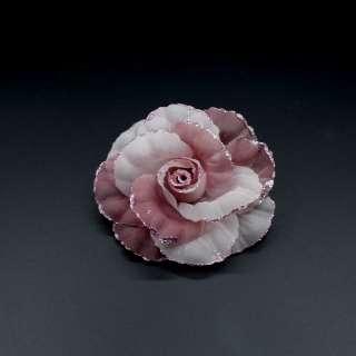 Цветок на булавке декоративный капрон 10мм