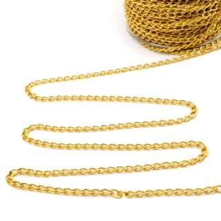 Цепочка металлическая 6х4 мм золото