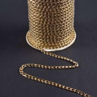 Цепочка металлическая 10х6 мм золото светлое