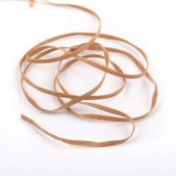 Шнур замша-флок 3 мм коричневый светлый