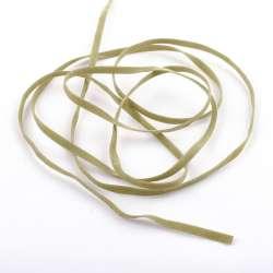 Шнур замша-флок 3 мм оливковый