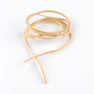 Шнур замша-флок бежевый светлый (1шт/1м) ширина 3мм, толщина 0,6мм