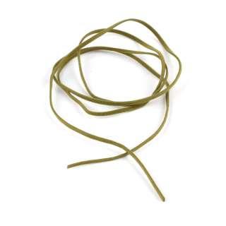 Шнур замша-флок болотный (1шт/1м) ширина 3мм, толщина 0,6мм