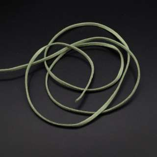 Шнур замшевый 3 мм толщина 1мм оливково-зеленый