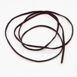 Шнур замшевый 3 мм толщина 1мм коричневый темный