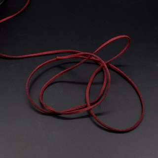 Шнур замшевый 3 мм толщина 1мм бордовый