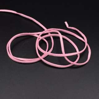 Шнур замшевый 3 мм толщина 1мм розовый