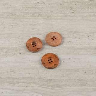 Пуговица деревянная диаметр 3см