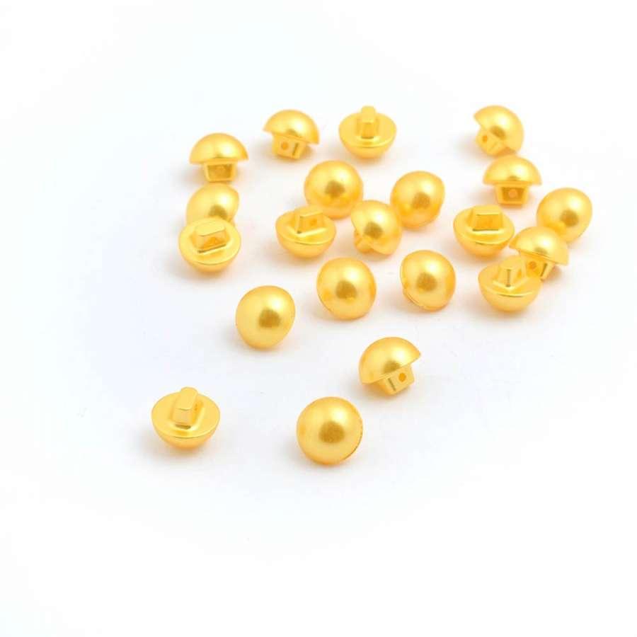 Ґудзик перлина 12мм на ніжці жовтий (1009)