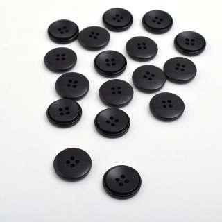 Пуговица черная 20мм на 4 прокола (1002)