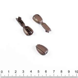 наконечник коричневый 17мм капля под шнур 4мм