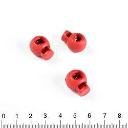 фиксатор красный 1 отв, 14мм, под шнур 4мм