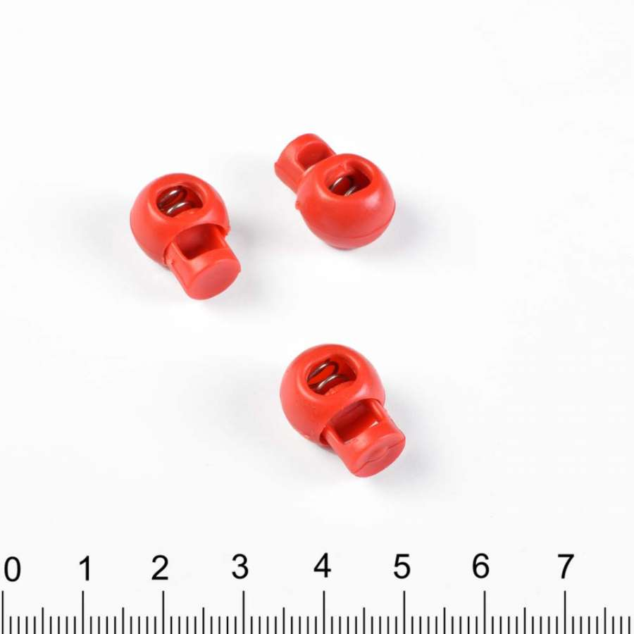 фиксатор красный 1 отв, 10мм, под шнур 4мм