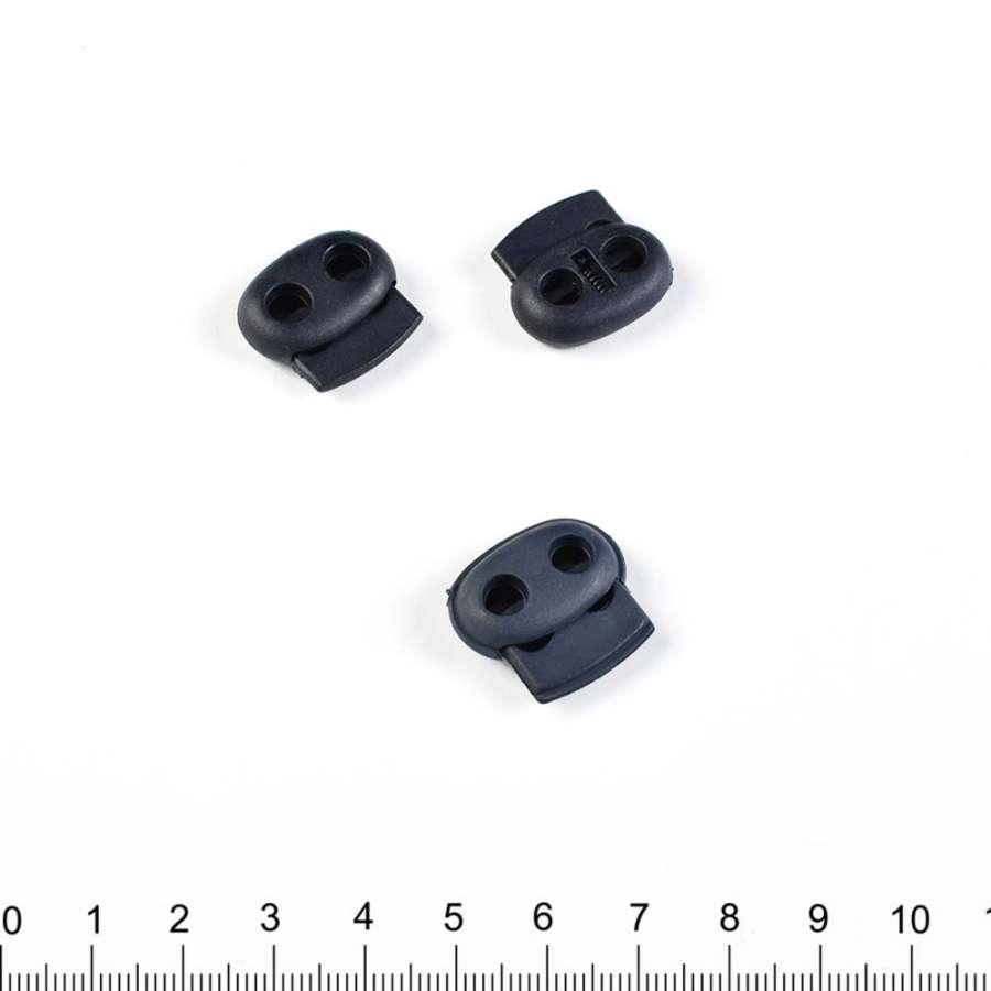 фиксатор синий 2 отв, 22мм, под шнур 4мм