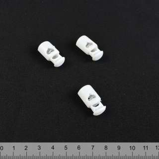 фіксатор білий 1 відп, 19мм, під шнур 4мм