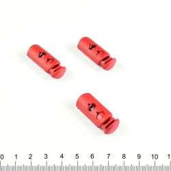 фиксатор красный 2 отв, 30мм, под шнур 4мм