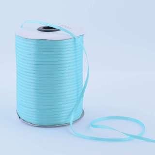 А1-01-011 атласная лента ш 0,3см голубая светлая на метраж (в бобине 880яр/315г