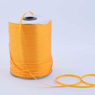 А1-01-017 атласна стрічка ш 0,3 см жовта яскрава на метраж (в бобіні 880яр / 315г