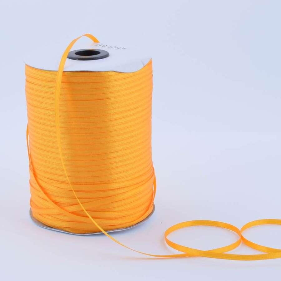 Лента атласная 3мм желтая яркая А1-01-017 на метраж (бобина 880яр/315г)
