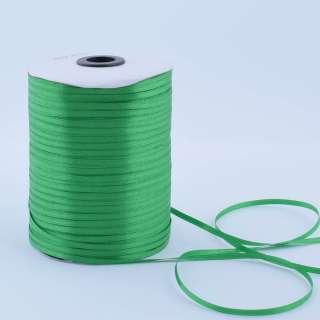 А1-01-019 атласная лента ш 0,3см зеленая на метраж(в бобине  880яр/315г