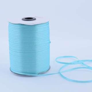 А1-01-020 атласна стрічка ш 0,3 см блакитна на метраж (в бобіні 880яр / 315г