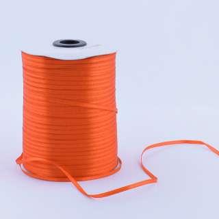 А1-01-025 атласна стрічка ш 0,3 см помаранчева на метраж (в бобіні (в бобіні 880яр / 315г
