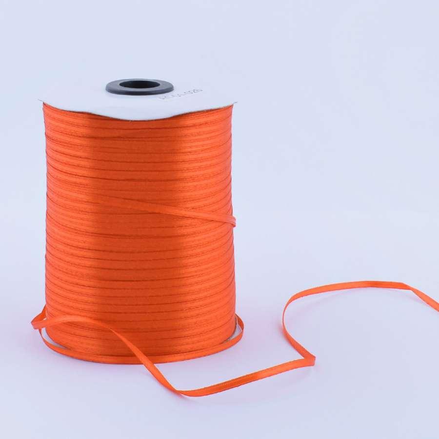 Лента атласная 3мм оранжевая А1-01-025 на метраж (бобина 880яр/315г)