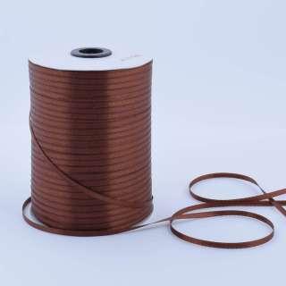 А1-01-032 атласная лента ш 0,3см коричневая на метраж(в бобине  880яр/315г