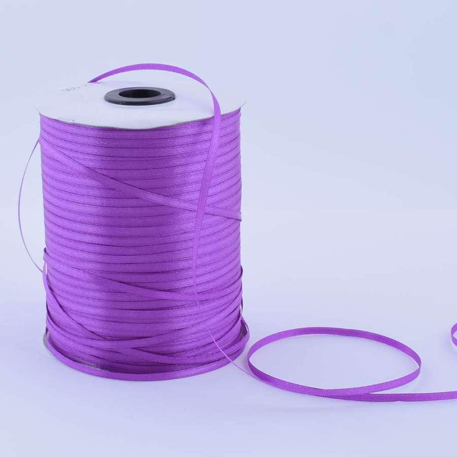 Лента атласная 3мм фиолетовая А1-01-035 на метраж (бобина 880яр/315г)