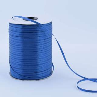 А1-01-038 атласна стрічка ш 0,3 см синя на метраж (в бобіні 880яр / 315г