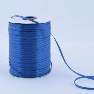 Стрічка атласна 3 мм синя А1-01-038 на метраж (бобіна 880яр / 315г)