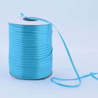 А1-01-047 атласна стрічка ш 0,3 см бірюзова на метраж (в бобіні 880яр / 315г