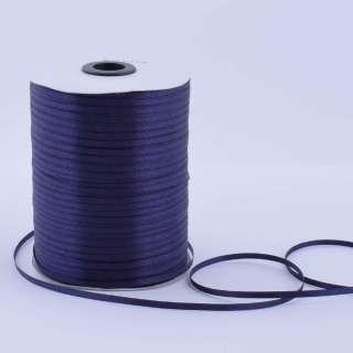 Стрічка атласна 3 мм синя темна А1-01-072 на метраж (бобіна 880яр / 315г)