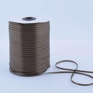 А1-01-129 атласная лента ш 0,3см коричнево-оливковая на метраж (в бобине  880яр/315г)