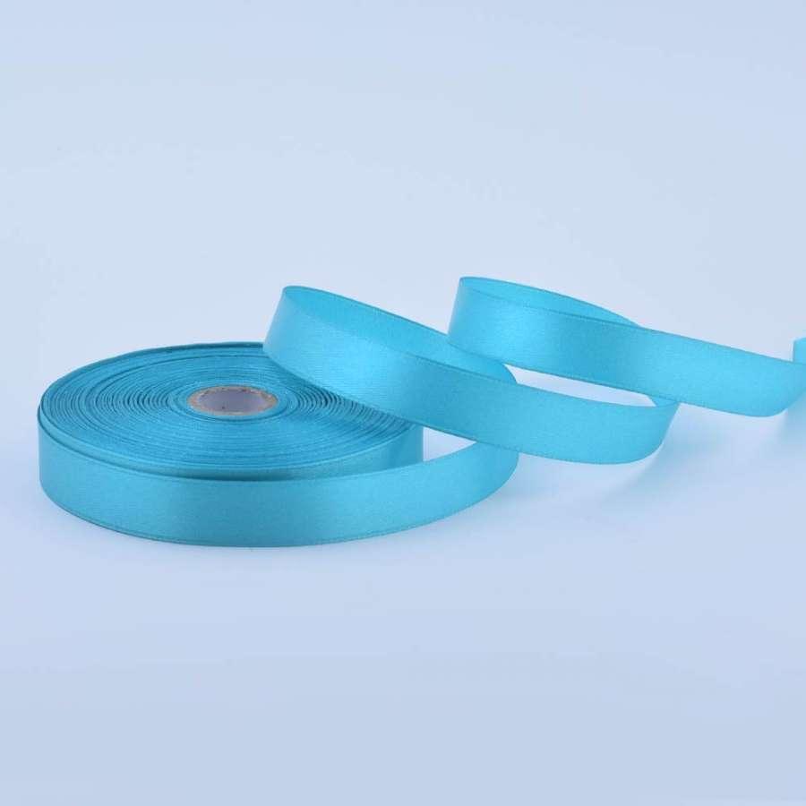 Лента атласная 15мм голубая светлая А1-05-011 на метраж (бобина 50яр/68,2гр)