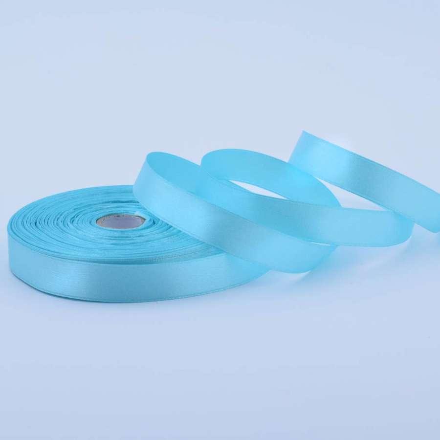 Лента атласная 15мм голубая А1-05-020 на метраж (бобина 50яр/68,2гр)