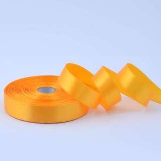 Стрічка атласна 20мм жовта насиченим А1-06-017 на метраж (бобіна 50яр / 77,4г)