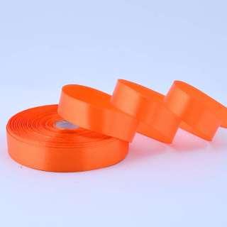 Стрічка атласна 20мм помаранчева А1-06-025 на метраж (бобіна 50яр / 77,4г)