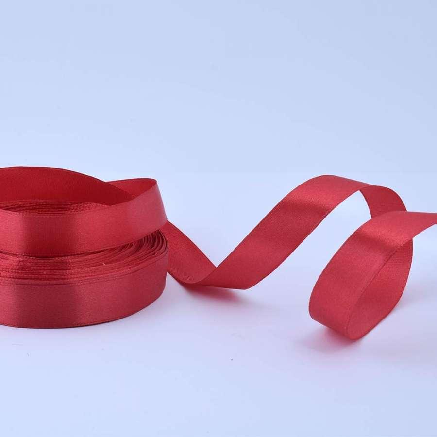 Лента атласная 20мм красная темная А1-06-033 на метраж (бобина 50яр/77,4г)
