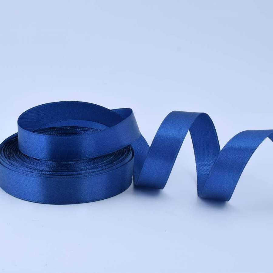Лента атласная 20мм синяя А1-06-038 на метраж (бобина 50яр/77,4г)