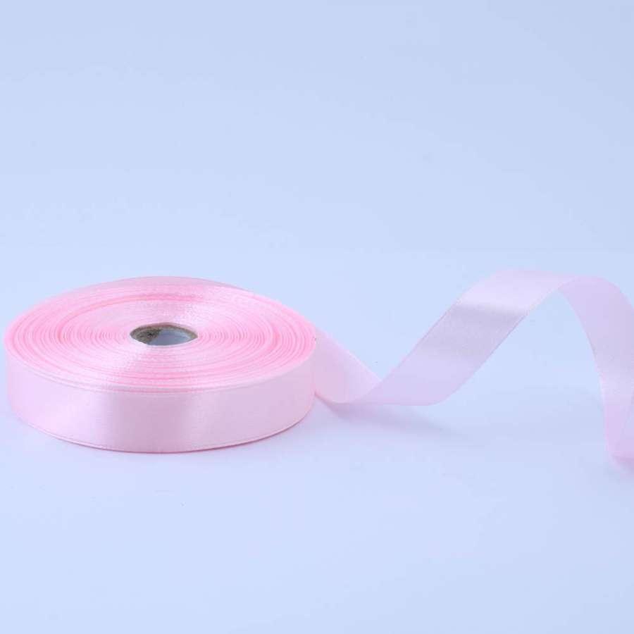 Лента атласная 20мм розовая А1-06-043 светлая на метраж (бобина 50яр/77,4г)