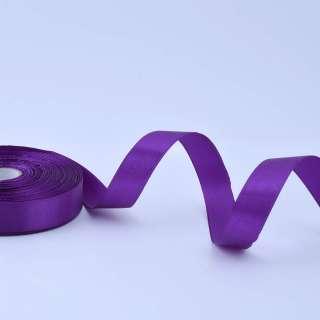 Стрічка атласна 20мм фіолетова А1-06-046 на метраж (бобіна 50яр / 77,4г)