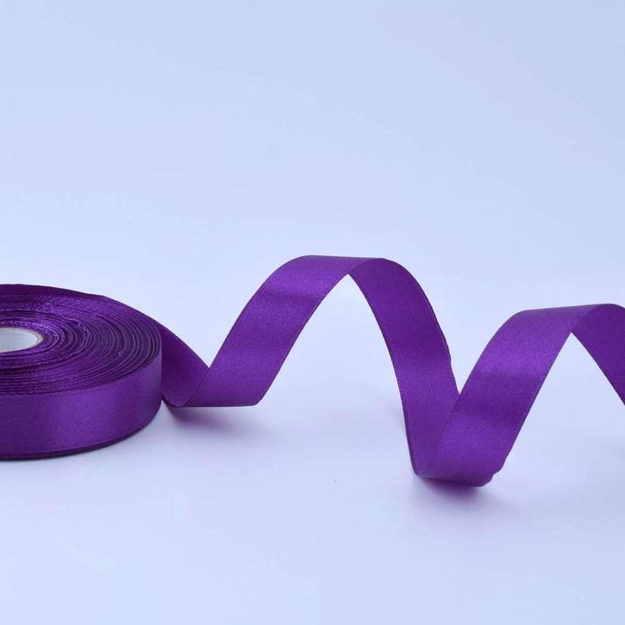 Лента атласная 20мм фиолетовая А1-06-046 на метраж (бобина 50яр/77,4г)